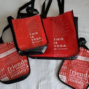 Lululemon Reusable Tote Bag Lot